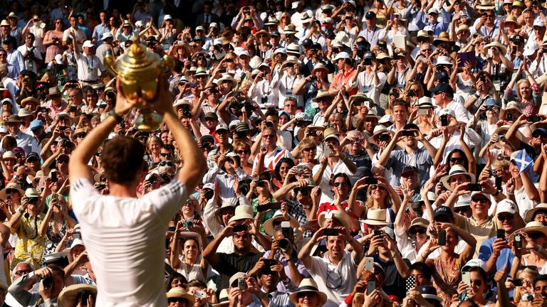 Murray ended Britain's 77-year wait for a Wimbledon champion in 2013