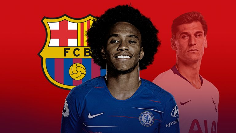 Willian and Fernando Llorente have both been linked with January moves to Barcelona