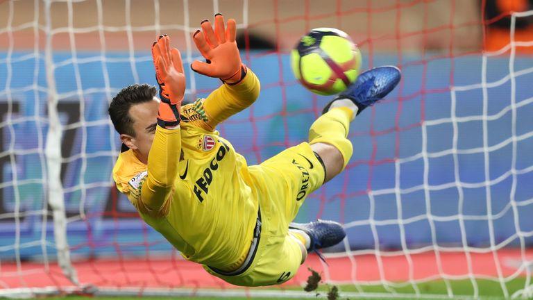Diego Benaglio keeps out Allan Saint-Maximin's penalty to keep the scores level