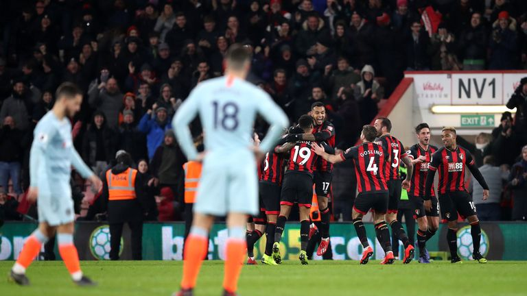 Bournemouth thrashed Chelsea to move back into the top half of the table