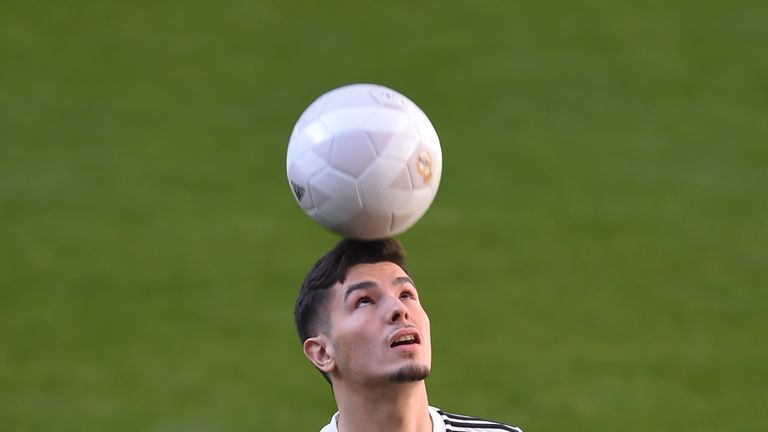 Real completed Brahim Diaz's signing form Manchester City on Monday