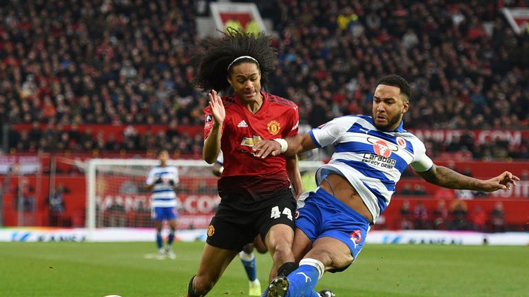 Tahith Chong was keen to impress during his cameo for Manchester United