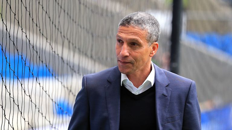 Hughton is looking to guide Brighton to a third consecutive win over Man Utd