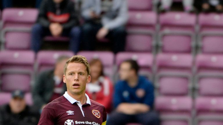 Christophe Berra has made 27 appearances for Hearts this season despite missing a significant period due to injury