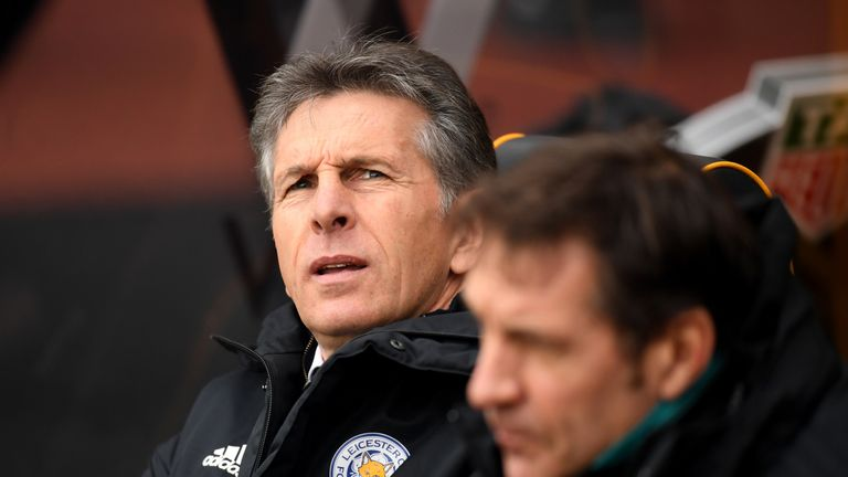 Claude Puel saw his side fall to a late defeat at Wolves