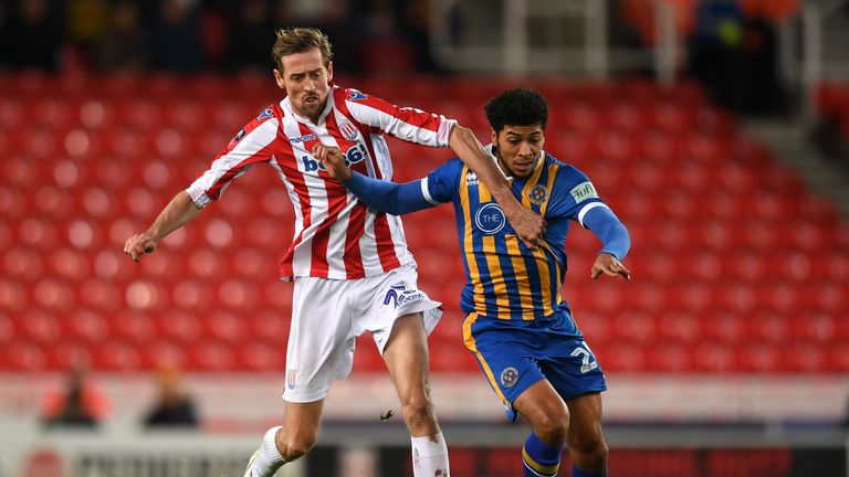 Peter Crouch could play against his former club Southampton