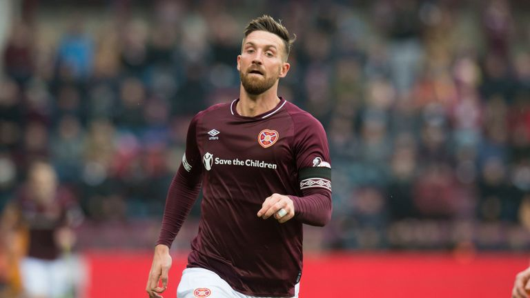 New Hearts striker David Vanecek in action for the Edinburgh side during Sunday's win over Livingston in the Scottish Cup