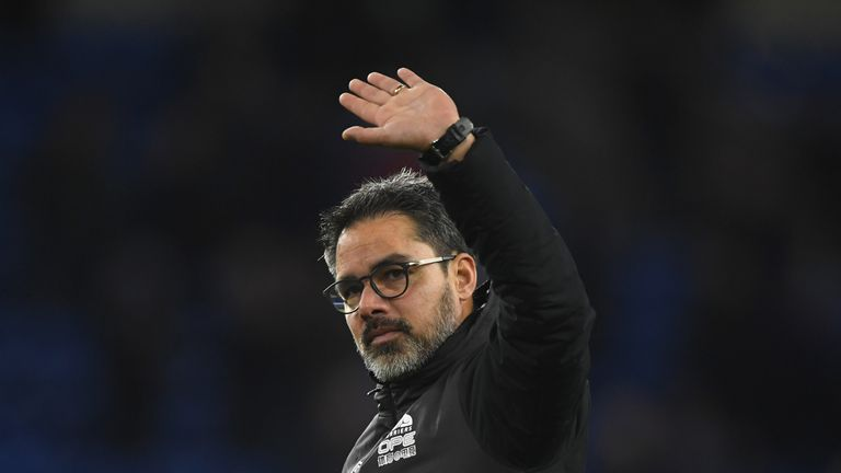 David Wagner during the Premier League match between Cardiff City and Huddersfield Town at Cardiff City Stadium on January 12, 2019 in Cardiff, United Kingdom