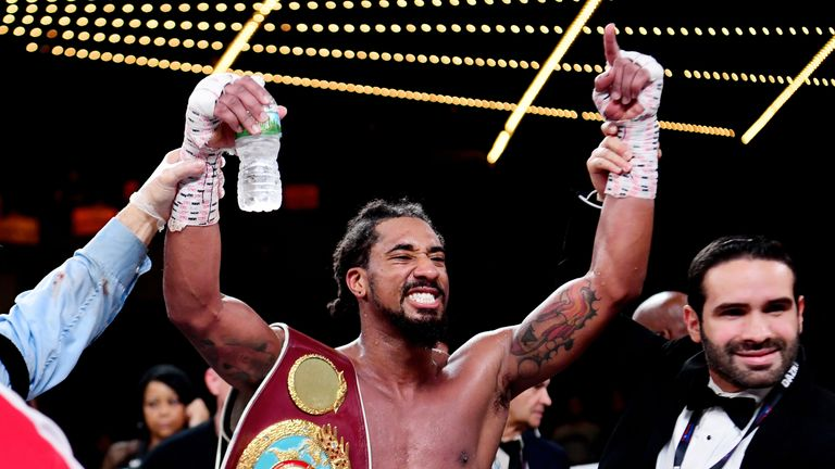 Demetrius Andrade made a successful first world title defence