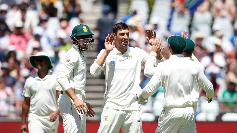 He has taken 48 wickets in 10 Tests for South Africa