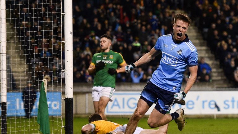 Seizing the opportunity: Robbie McDaid celebrates after scoring Dublin's goal against Meath