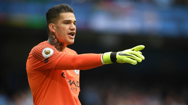 Ederson is picked ahead of Victor Valdes as Toure's ultimate goalkeeper