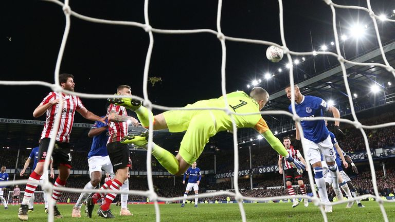 Everton required a goal-line clearance from Richarlison to avoid a draw