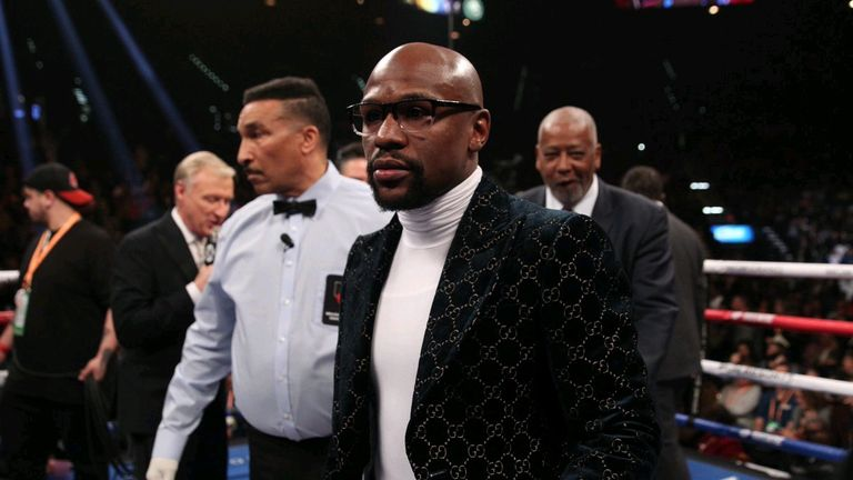 Floyd Mayweather was co-promoting Manny Pacquiao's win over Adrien Bromer (Mayweather Promotions)