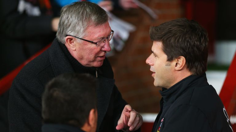 Sir Alex Ferguson and Pochettino in 2013