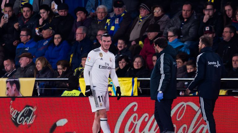 Bale was injured playing against Villarreal