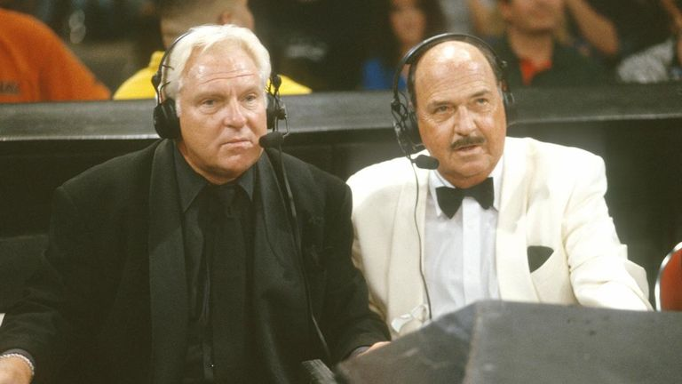 Okerlund's spell at the announcers' table with Bobby 'The Brain' Heenan delighted fans for years.