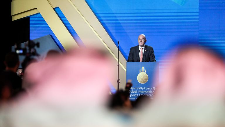 Gianni Infantino is driving a plan to expand the 2022 World Cup to 48 teams