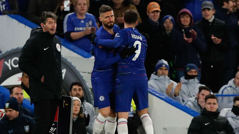Olivier Giroud previously admitted his future at Chelsea looks uncertain, after Gonzalo Higuain joined on loan from Juventus  in January