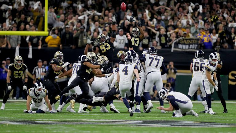 Highlights of the NFC Championship between the Los Angeles Rams and the New Orleans Saints.