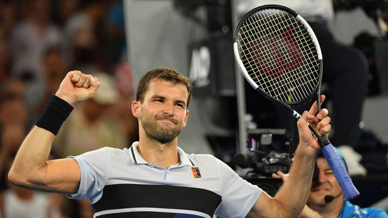 Grigor Dimitrov powered into the last 16 of the Australian Open