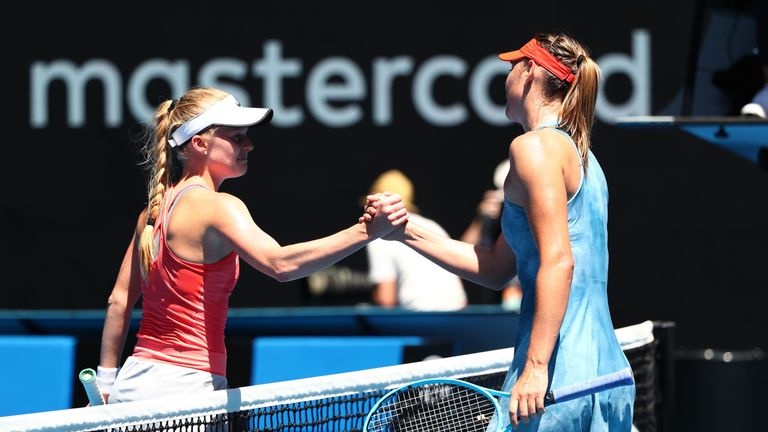 Harriet Dart was unable to test Maria Sharapova on Rod Laver Arena