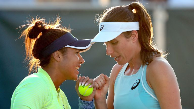 Heather Watson (left) and Johanna Konta will lead Britain's team