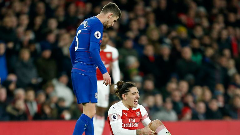 Hector Bellerin is expected to be sidelined until the beginning of next season