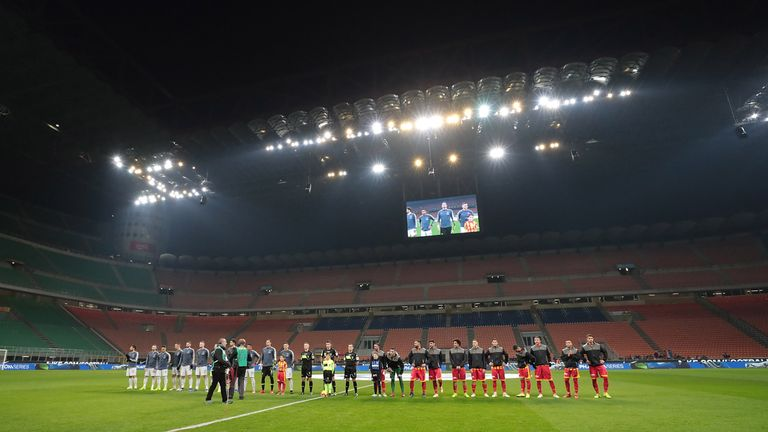 Inter Milan had to play Sunday's Coppa Italia game behind closed doors