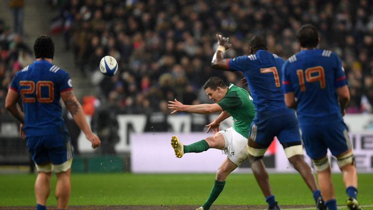 Johnny Sexton's highly dramatic drop goal got Ireland off to a flyer in Paris last year