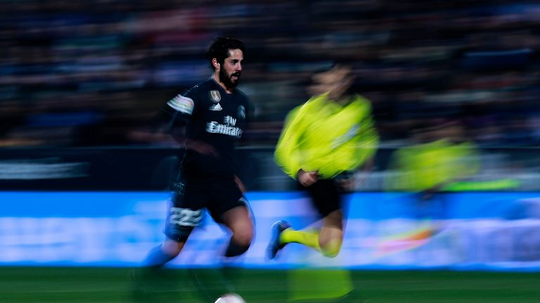 Isco came off midway through the second half at Leganes