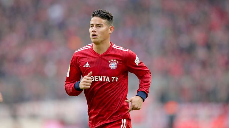 James Rodriguez has fallen down the pecking order at Bayern Munich
