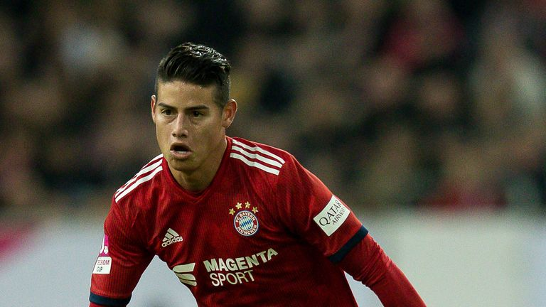 James Rodriguez is struggling for game time at Bayern Munich