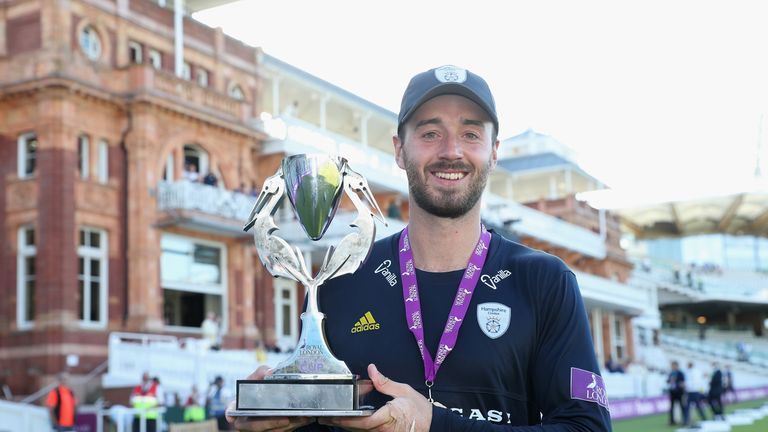 James Vince captained Hampshire to the Royal London One-Day Cup title in 2018