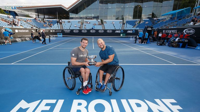 Joachim Gerard and Olsson won the men's wheelchair doubles final