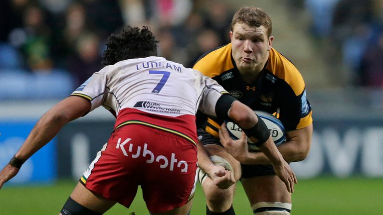 Joe Launchbury returned to action for Wasps having been out injured since September