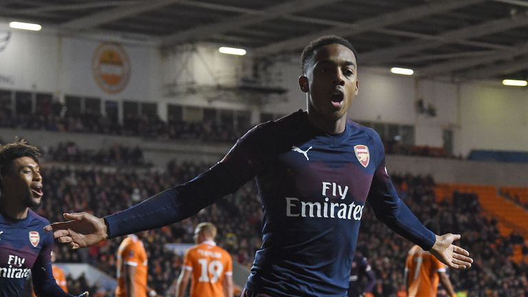 Joe Willock's two goals helped Arsenal beat Blackpool to reach the fourth round