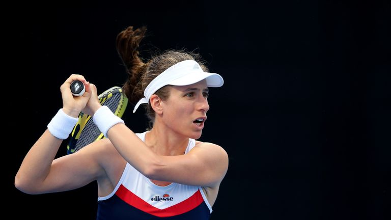 Johanna Konta crashed out in the last eight in Acapulco