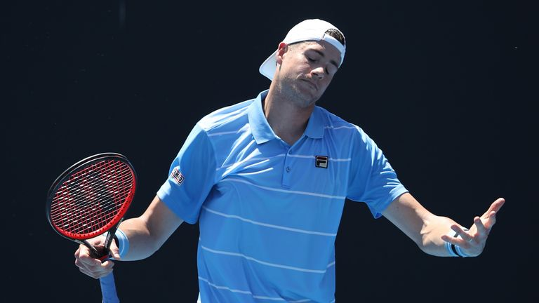 John Isner was upset by fellow American Reilly Opelka