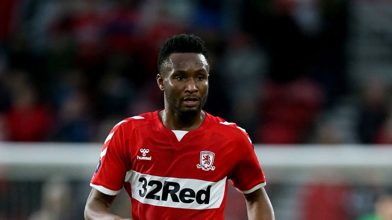 John Obi Mikel joined Middlesbrough on a free transfer