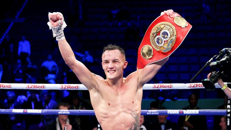 Josh Warrington holds the IBF featherweight title