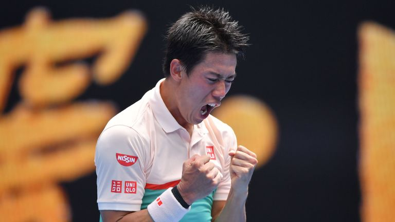 Nishikori comes up aces, rolls into third round in Australian Open