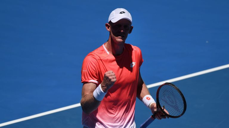 Kevin Anderson blasted his way past Adrian Mannarino