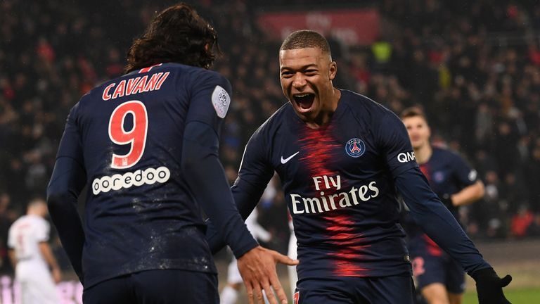Kylian Mbappe and Edinson Cavani both scored hat-trick on Saturday