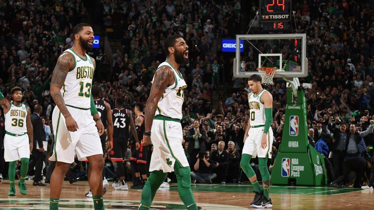 Kyrie Irving inspires Boston Celtics to victory over Toronto Raptors | NBA News |
