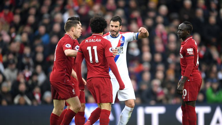Crystal Palace players took issue with Mohamed Salah diving in the area, and he should have been booked, according to Dermot Gallagher