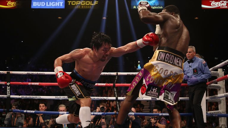 Pacquiao's left was his lead shot, especially to the body