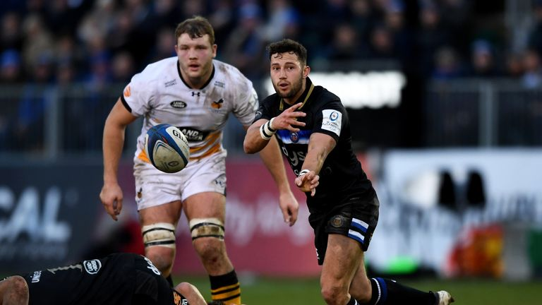 Max Green notched Bath's opening points of the match with an eighth-minute try