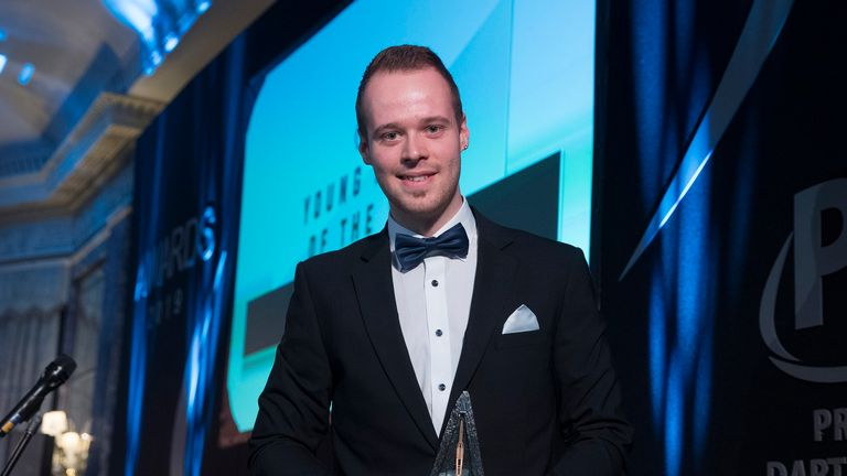 Max Hopp was named PDC young player of the year