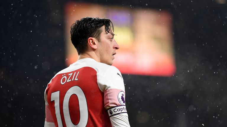 during the Premier League match between Arsenal FC and Cardiff City at Emirates Stadium on January 29, 2019 in London, United Kingdom.